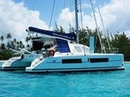 Boat anchored in Tahiti