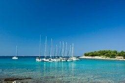 Yachts anchored Croatia