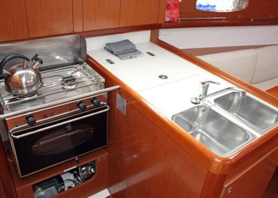 Yacht Charter Whitsundays Beneteau Oceanis 31 Galley