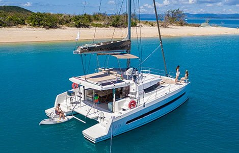 catamaran in the whitsundays
