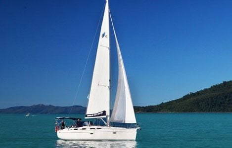 yacht on the whitsundays